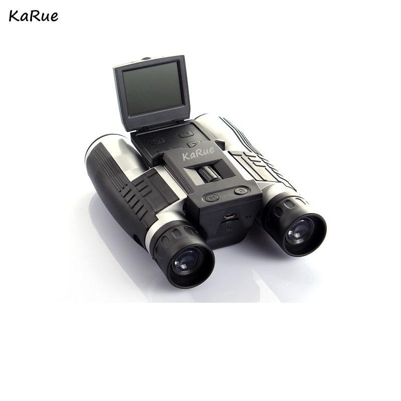 karue Professional 12x32 HD Binocular Telescope DigitalCamera 5MP CMOS Sensor 2.0'' TFT display  hd 1080p telescope camera DHL hlsr 32 p sp33 sensor mr li