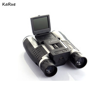 "Karue Profesional 12×32 HD Binocular Telescopio DigitalCamera 5MP CMOS Sensor de 2.0 ""tft hd 1080 p telescopio cámara de DHL"