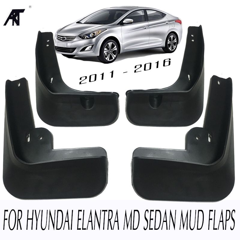 Mud Flaps FIT FOR 2011 - 2016 HYUNDAI ELANTRA MD SEDAN MUD FLAPS SPLASH GUARDS FENDER MUDGUARD ACCESSORIES цена