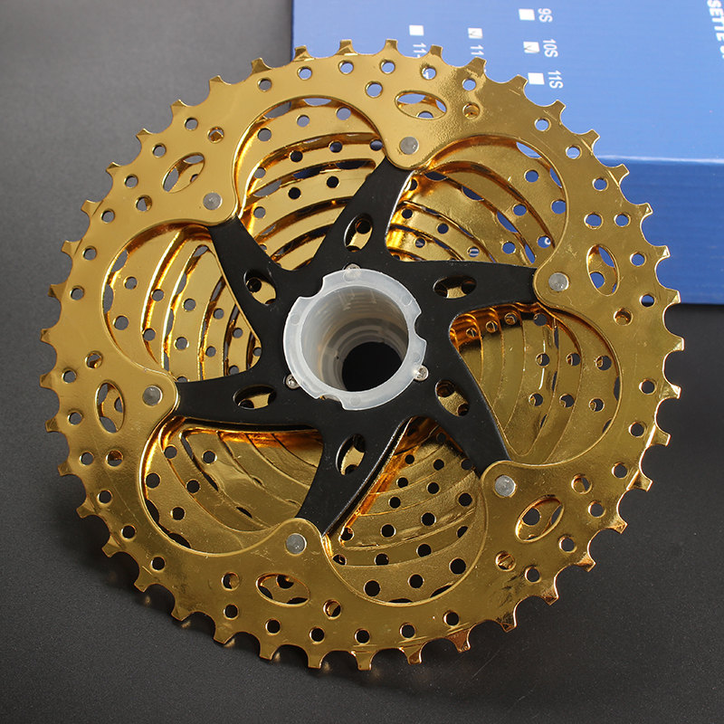 Image 2 - SUNSHINE SZ 11 42T 10Speed Cassette 10 s Gold Freewheel MTB Mountain Bike Bicycle Steel Golden Sprockets for parts System-in Bicycle Freewheel from Sports & Entertainment