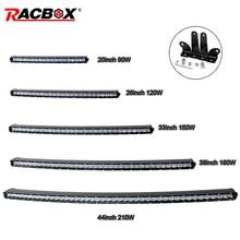 5D Curved Single Row LED Work Light Bar 90W 120W 150W 180W 210W OffRoad 20 26 33 38 44inch Fog Headlight For SUV 4X4 ATV MPV GAZ