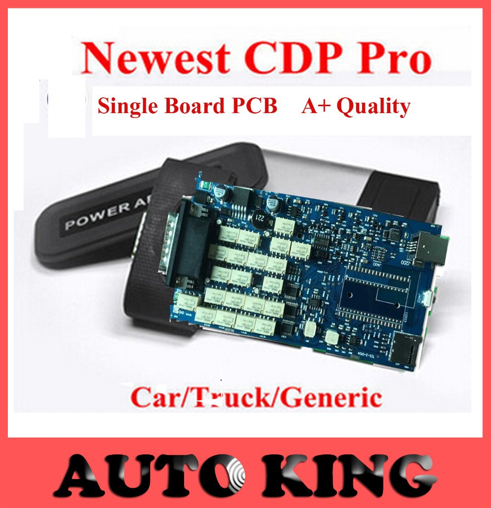 2016 Fast free Shipping Quality A TCS CDP PRO scanner no bluetooth 2014 02 Single Board