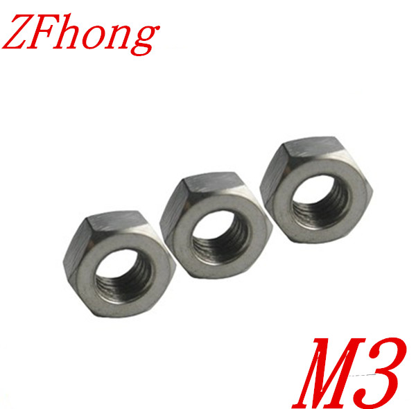 50pcs M3 Titanium Hex Nut Grade 2 In Nuts From Home Improvement On Aliexpress