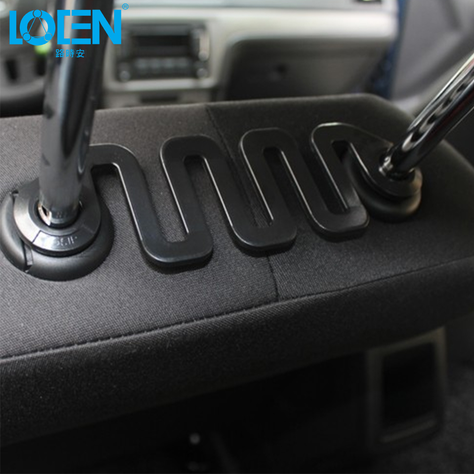 LOEN 1PCS Auto Fastener Clips Car Seat Back Headrest Hanger Holder Hooks Auto Portable Seat hook Hanger Purse Bag Holder swiss blue crystal handbag purse hook hanger