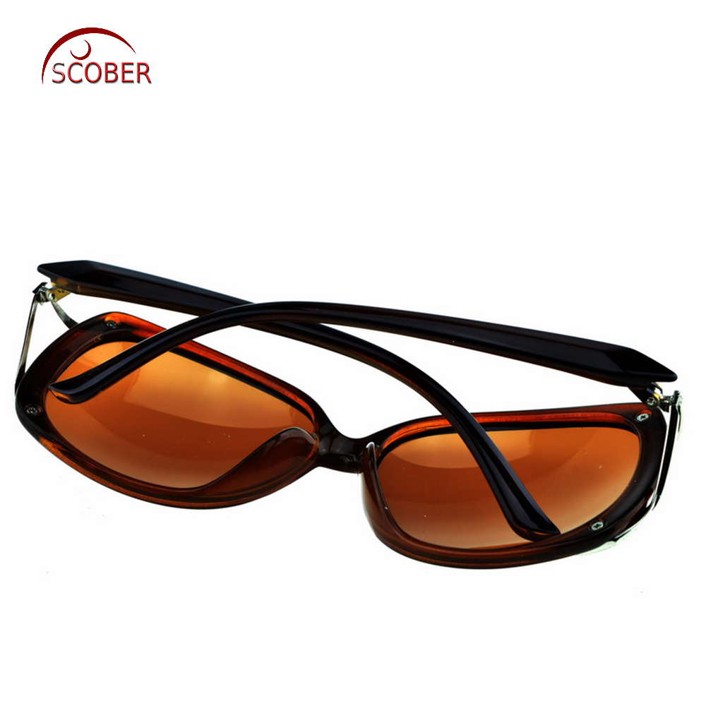 196e05cda96 Aliexpress.com   Buy   SCOBER   Butterfly Custom Made Nearsighted Minus  Prescription Black Frame Green Lens Double Beam Polarized 1 1.5 2 to 6 from  Reliable ...