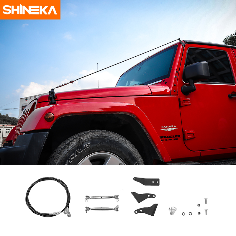SHINEKA Membre Riser Kit Obstacle Éliminer Corde Protecteur Dévier Les Branches Basses Brosse Pour Jeep Wrangler JK 2007-2017