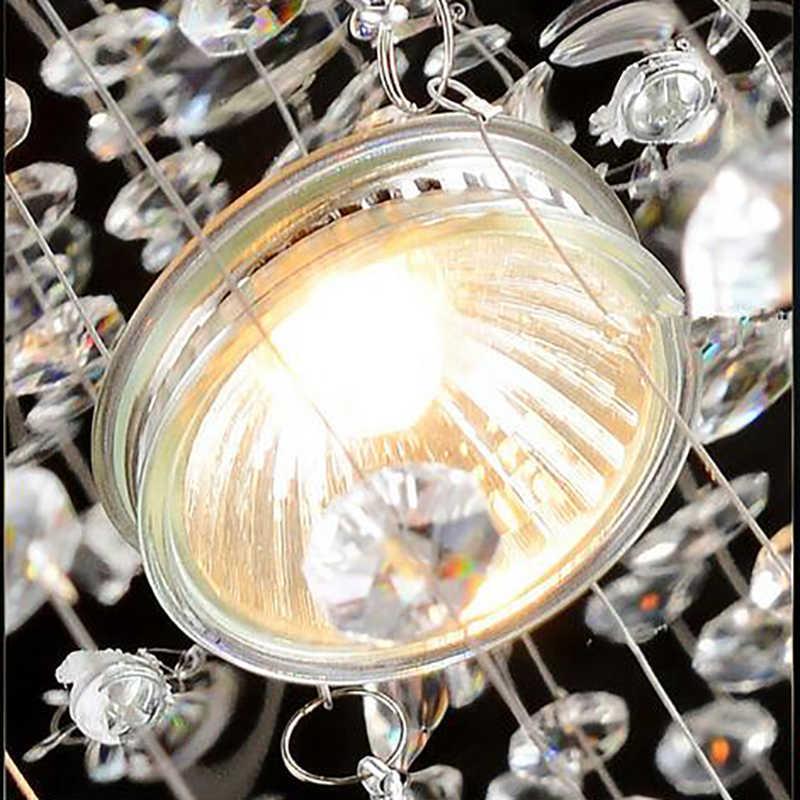 2017 מכירה לוהטת חדש ספירלת LED קריסטל נברשת K9 זוהר de cristal לאחר מכירה את estar לעשות לובי escadas + משלוח חינם