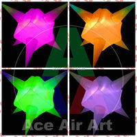 fabric made hanging colorful attractive inflatable nightclub decoration led balloon