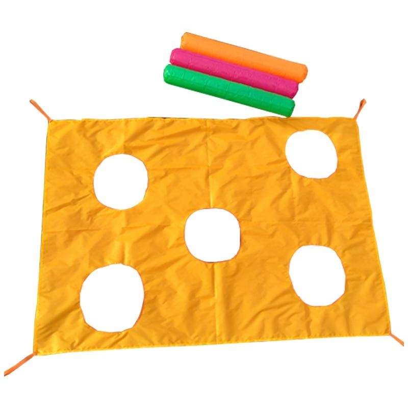 2*1.45M Children Games Whac-A-Mole Rainbow Umbrella Educational Outdoor Sports Toys Fun Parachute Ballute Kindergarten Kids