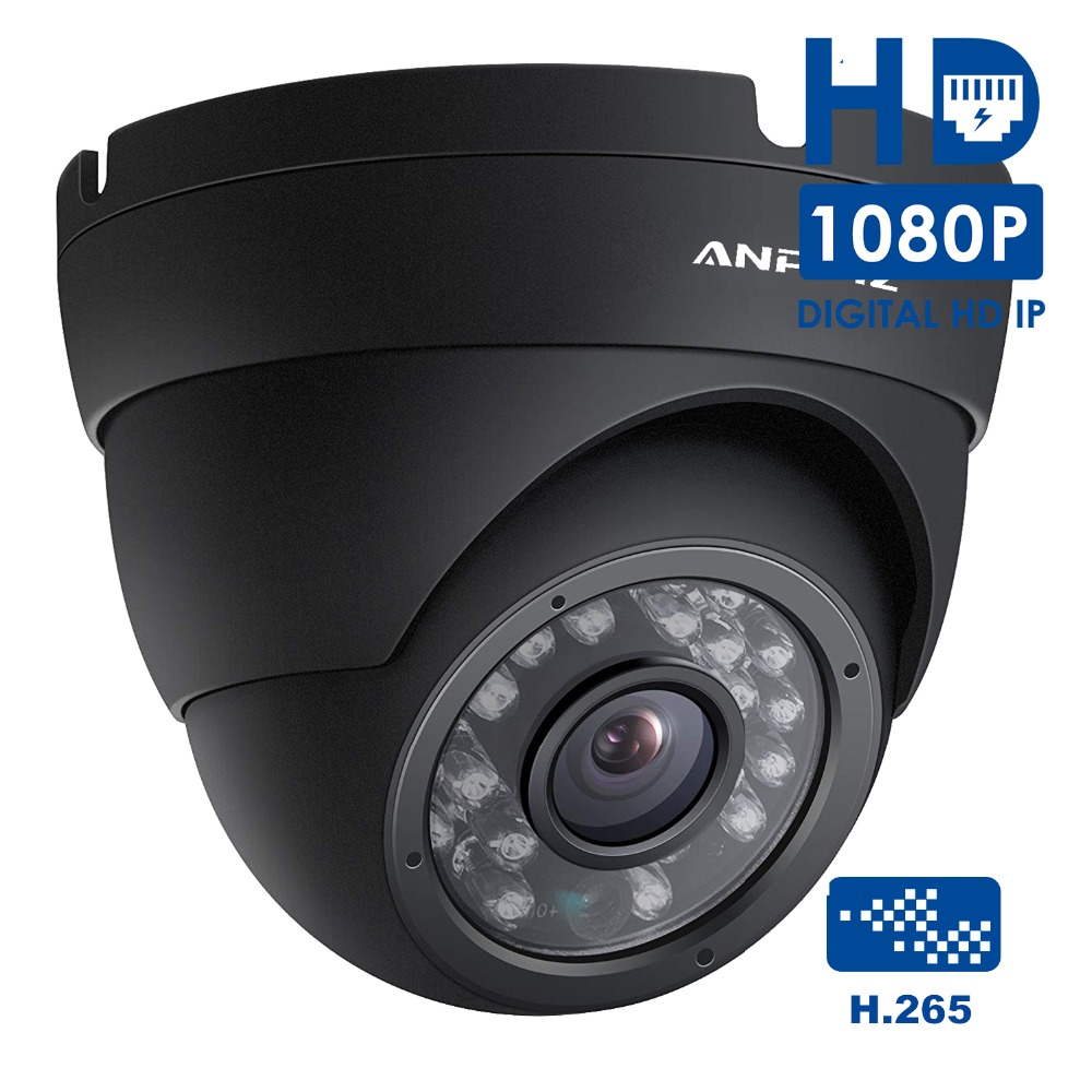 Anpviz 1080P Turret PoE IP Camera Waterproof HD 2MP Indoor/Outdoor Network Video Surveillance Security CCTV Camera H.265 IR P2P elp ip camera 720p indoor outdoor network 1 0mp mini hd cctv security surveillance camera onvif poe h 264