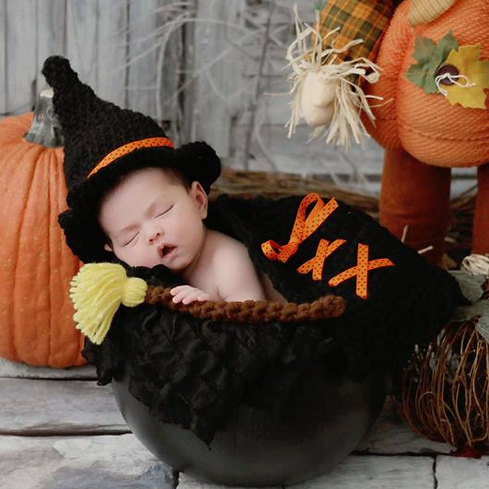 Latest Newborn Witch Hat Cape and Broom Stick Set Crochet Newborn Photo Props Halloween Fall Costume Outfit H272-in Hats u0026 Caps from Mother u0026 Kids on ...  sc 1 st  AliExpress.com & Latest Newborn Witch Hat Cape and Broom Stick Set Crochet Newborn Photo Props Halloween Fall Costume Outfit H272-in Hats u0026 Caps from Mother u0026 Kids on ...