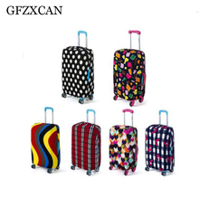 Travel case protection elastic trunk cover trolley printing dust travel accessories for 18 to 30 inch cabinet