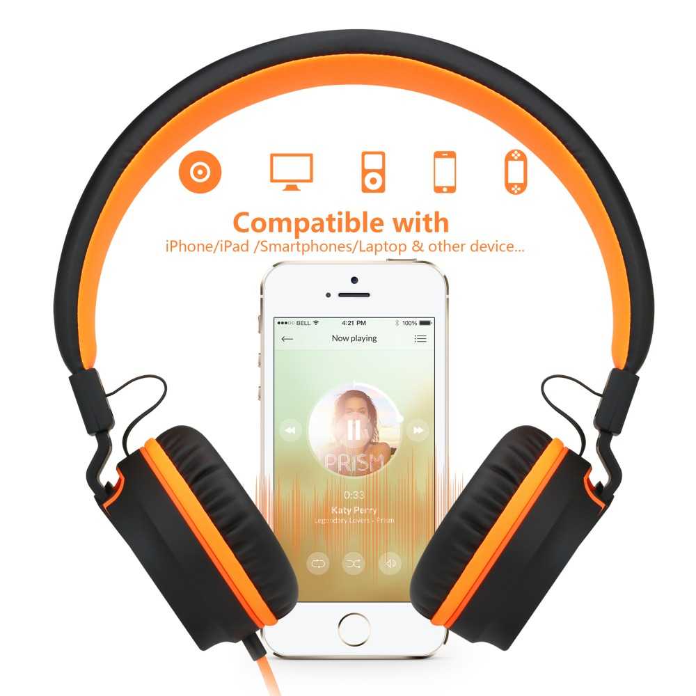 PICUN I35 Foldable Wired Headsets Cute Big Headphones for Girls L ...