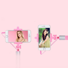 Extendable Handheld Wired Selfie Stick Tripod Monopod Travel For iPhone for Samsung Huawei Xiaomi 3.5mm Jack