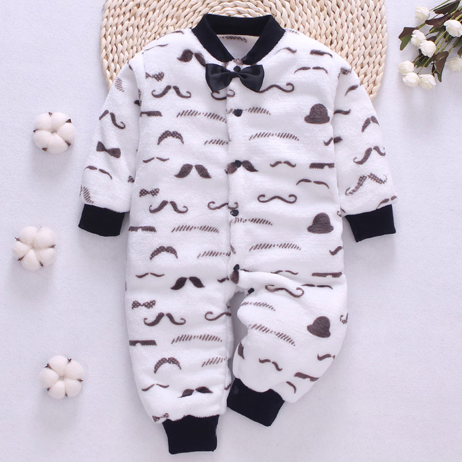 HTB1Gzr6aa1s3KVjSZFtq6yLOpXaV winter fleece baby rompers long sleeve newborn coat jumpsuit baby clothes boy girl clothing soft infant new born warm rompers