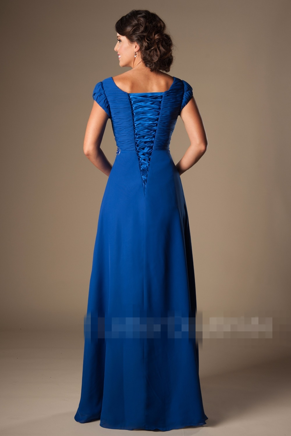 Royal blue long modest bridesmaid dresses with cap sleeves beaded royal blue long modest bridesmaid dresses with cap sleeves beaded crystals ruched chiffon coral beach bridesmaid gowns 2017 in bridesmaid dresses from ombrellifo Image collections