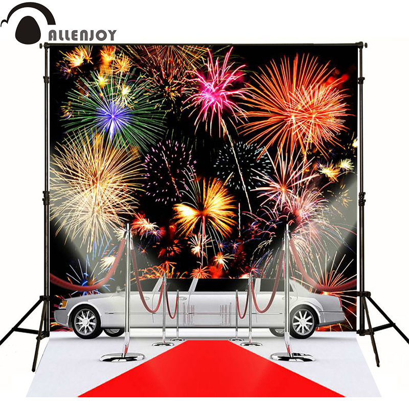 Allenjoy photographic background Fireworks light the red carpet Cars professional fabric new design fabric vinyl Private party