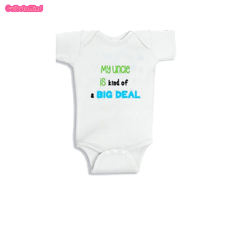 Culbutomind Hot Summer New Cute Unisex One-piece Baby Boy Girl Body Suit Short Sleeve Uncle Aunt Baby Jumpsuit Clothing