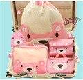 Travel Bag 5PCS/ Set Korea Waterproof Nylon Cartoon Bear Packing Cubes Luggage Packing Organizers With Clothing Bag