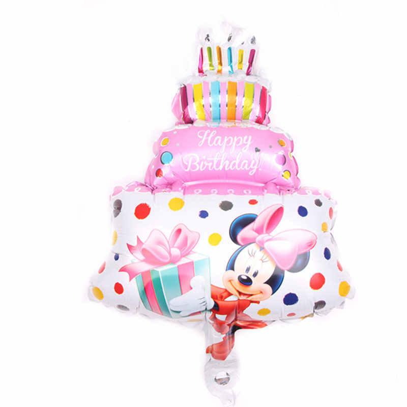 TSZWJ novo Mini Minnie Mickey. Bolo de Brinquedos Das Crianças da Festa de Aniversário Balão De Alumínio Balão Decorativo Atacado
