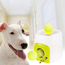 2 in 1 Interactive Tennis Ball Toys Fetch Launcher Dog Pet Toys Automatic Throwing Mmachine Pet Ball Throw Device Emission(China)