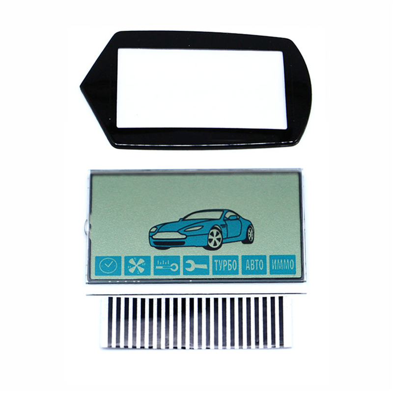 A91 Flexible Cable A91 LCD Display + Keychain Glass Case For StarLine A91 Lcd Remote Control With Zebra Stripes Paper