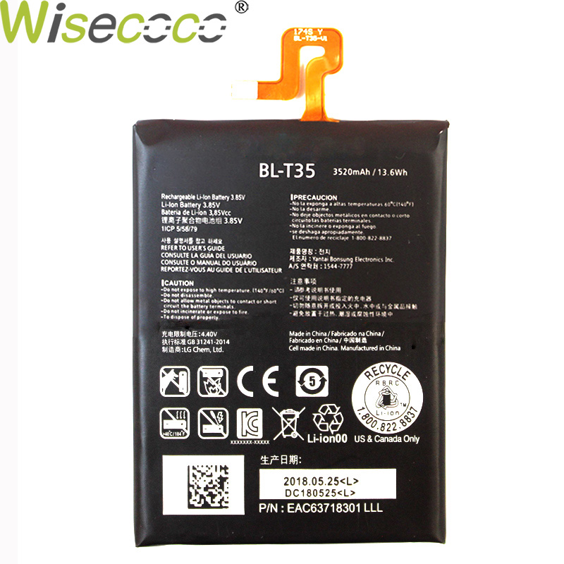 Wisecoco New Original 3520/4200mAh <font><b>BL</b></font>-<font><b>T35</b></font> Battery For LG Google2 Pixel 2 XL Phone In Stock Replacement High Quality + Track Code image