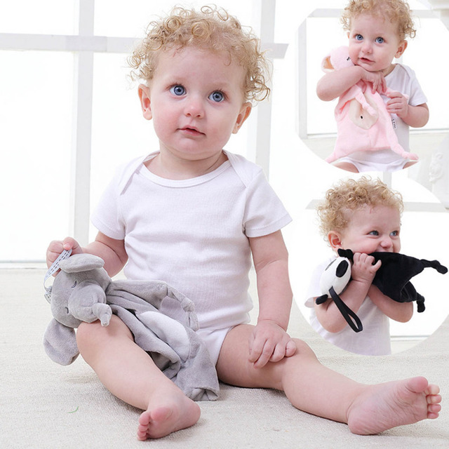 Baby Rattles Mobiles Gift Soft Soothe Towel Educational Plush Doll Kids Child Newborn Soothing Towel Toys Animal Shape Infant 4