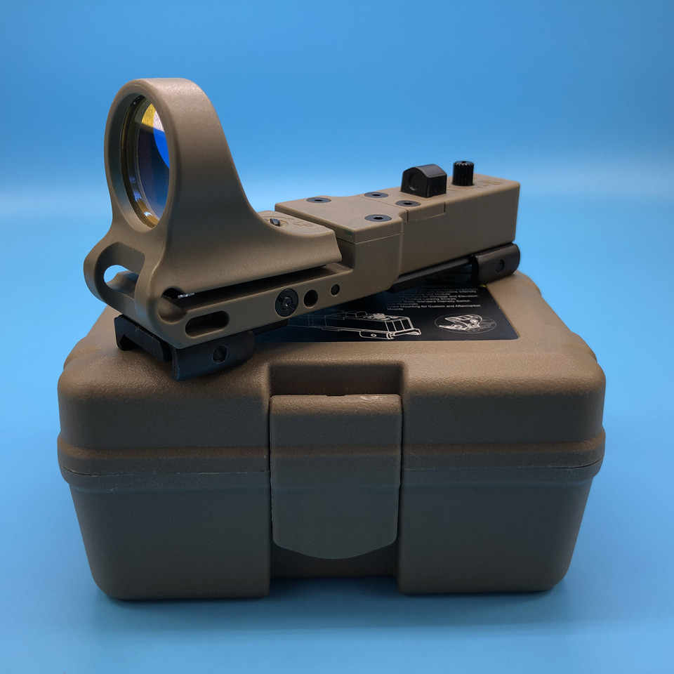 Taktis Baru Red Dot Lingkup Railway Reflex Sight C-MORE Seemore Red Dot Sight Optik Berburu Lingkup untuk Airsoft Shooting Tan