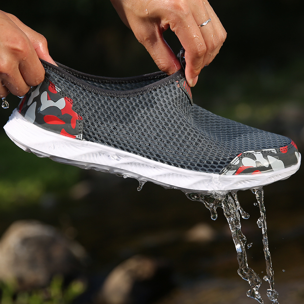 2019 Men 39 s Casual Shoes Sneakers Summer Men Outdoor Mesh Footwear Mesh Breathable Comfortable Slip on Waterproof Drop Shipping in Men 39 s Casual Shoes from Shoes