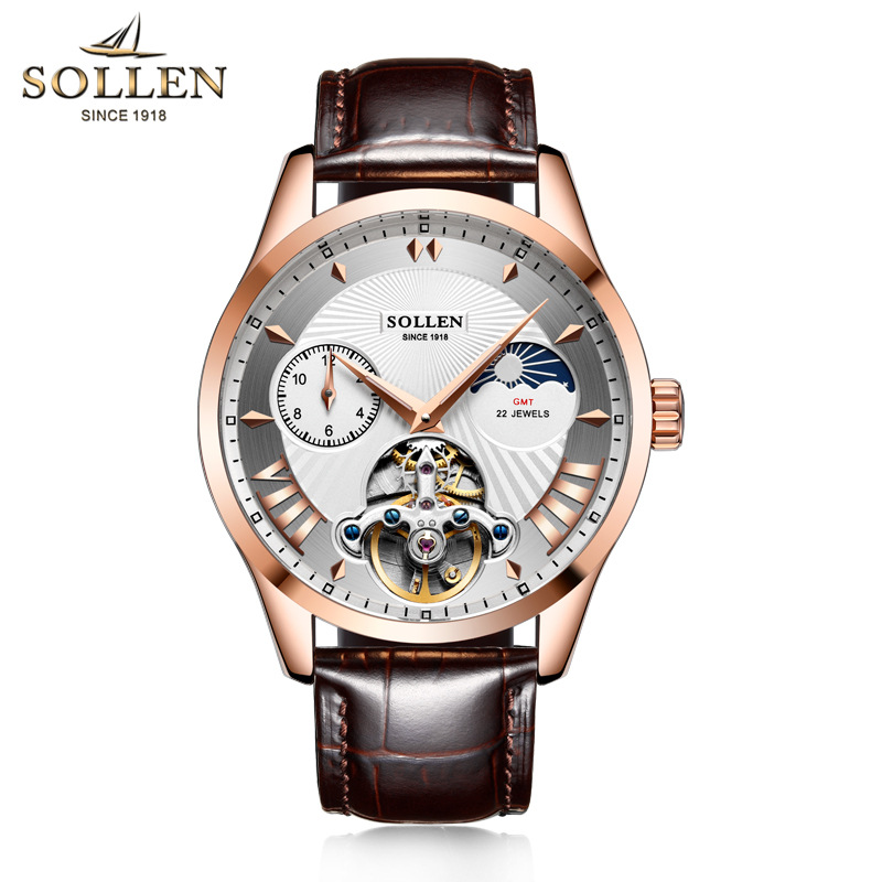 Mens Watches Top Brand Luxury Leather Automatic Mechanical Men Watch Classic Male Clocks High Quality Sport Relogio Masculino business men classic luxury watch automatic mechanical watches mens hours ruimas top brand male steel clocks relogio masculino