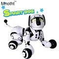 Atualização Inteligente Robô Cão com 89 Tipos de Música Light Up andando e Tornar o Diálogo Cães Presentes de Brinquedos Inteligentes para Crianças aniversário