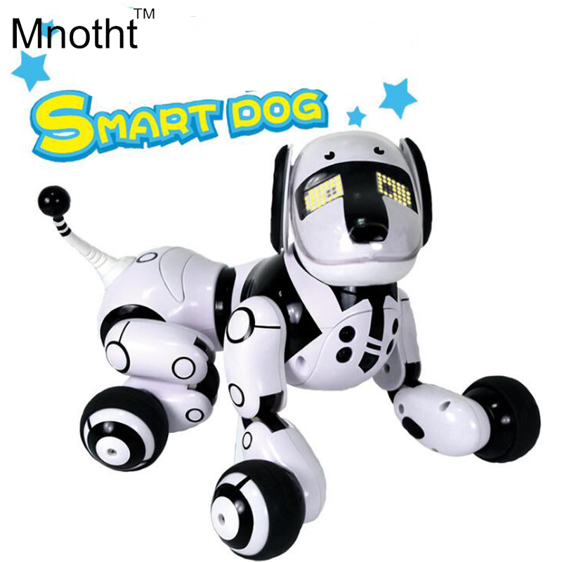 Updated Smart Dog Robot with 89 Kinds Music Light Up Walking and Make Dialogue Dogs Toys Intelligent Gifts for Kids Birthday innisfree smart make up база блендер под макияж выравнивающая 15 мл