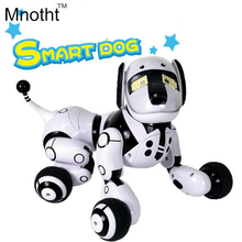 Updated Smart Dog Robot with 89 Kinds Music Light Up Walking and Make Dialogue Dogs Toys Intelligent Gifts for Kids Birthday