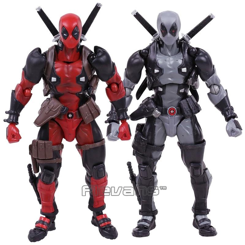 Revoltech Series NO.001 Marvel X-men Deadpool PVC Action Figure Collectible Model Toy цена
