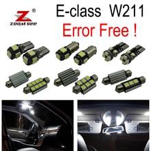 27x светодиодный фонарь для номерного знака+ Внутреннее освещение для чтения, комплект для Mercedes Benz E class W211 Sedan только E200 E220 E240 E270(02-08
