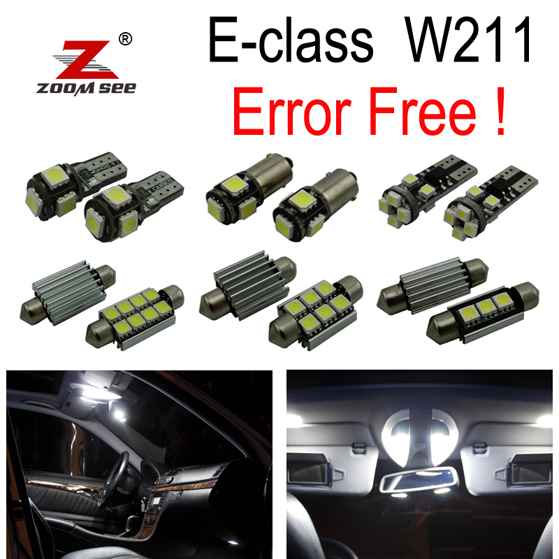 27pc x Cabus Error Free LED Bulb Interior Dome Light Kit Package For Mercedes Benz E class W211 Sedan ONLY (2002-2008) 27pcs led interior dome lamp full kit parking city bulb for mercedes benz cls w219 c219 cls280 cls300 cls350 cls550 cls55amg