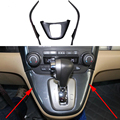 Fit For Honda CRV CR-V 2007-2011 Shift Gear Panel Trim Frame Garnish Cover 3PCS