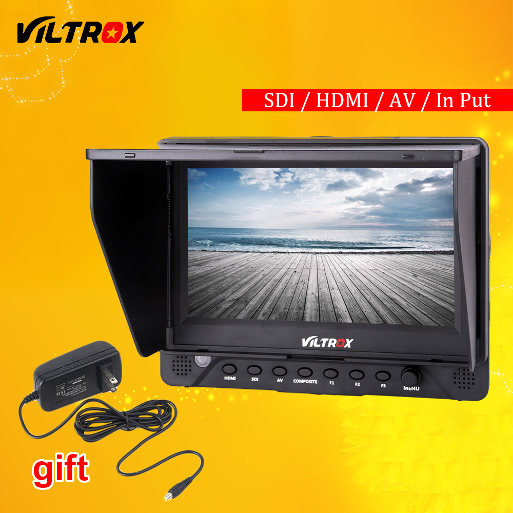 Viltrox DC-70 EX 7'' 4K HD HDMI/SDI/AV Input Output Camera Video LCD Monitor Display + AC Adapter for Canon Nikon Pentax Olympus aputure vs 5 7 inch sdi hdmi camera field monitor with rgb waveform vectorscope histogram zebra false color to better monitor
