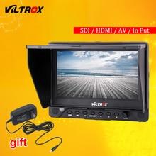 "Viltrox DC-70 EX 7 ""4 Karat HD HDMI/SDI/Av-eingang Ausgang Kamera Video LCD-Monitor + AC Adapter für Canon Nikon Pentax Olympus"