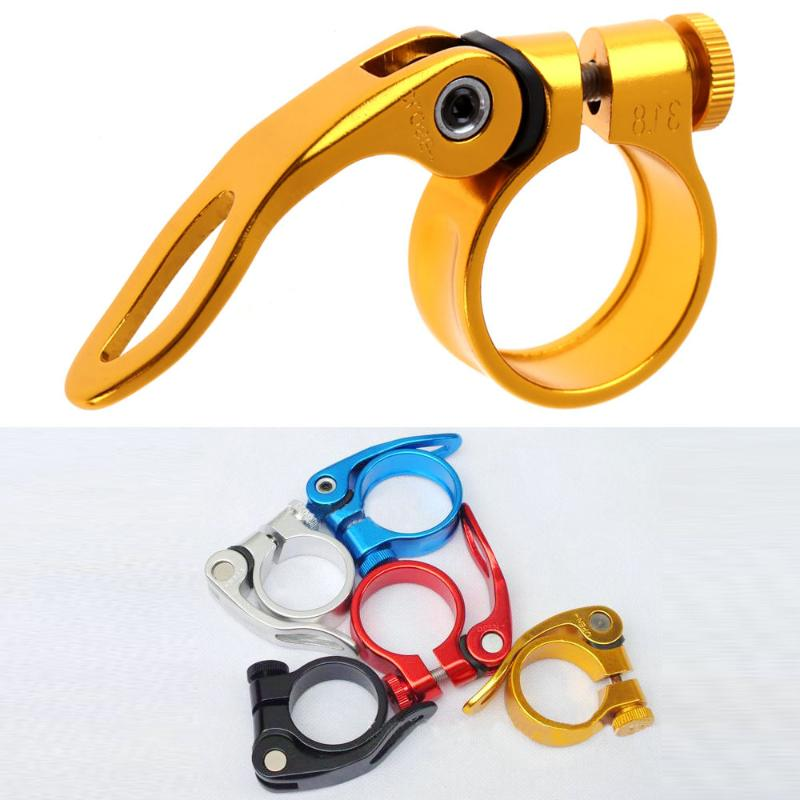 Aluminum Alloy Seatpost Clamp Quick 31.8mm MTB Bike Cycling Saddle Seat Post Clamp Quick Release Spare Parts for Bicycle Cycling