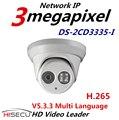 Nova Câmera H.265 IP V5.3.3 Multi Language DS-2CD3335-I 4mm 3.0 megapixel IR Dome Câmera IP Câmera Ao Ar Livre