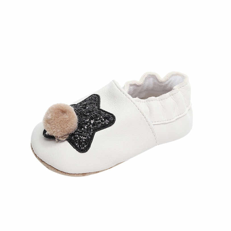 ... Baby Shoes Boys Girls Kids First Walkers PU Leather Spring Autumn Bling  Bling Five Star Patterns ... a71fd8f789ee