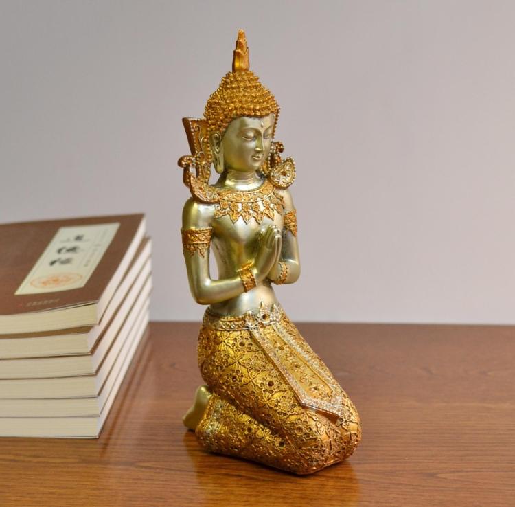 TNUKK style asiatique du sud-est statue de bouddha, ornement décor à la maison, arts et artisanat de la thaïlande, décoration, cadeaux de mariage.