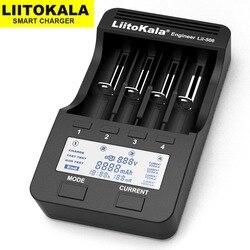 Liitokala Lii-500 Lii-402 carregador de bateria Lii-202 Lii-100 Lii-400 18650 26650 carregador para 21700 18650 18350 14500 aa aaa bateria