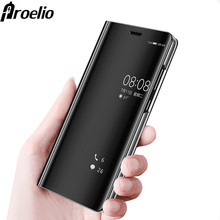 Proelio Mirror Smart Flip Case For Huawei Mate 10 9 Pro P9 P10 Plus Clear View Cover For Mate 10 P10 Lite P8 Lite 2017 Case Capa