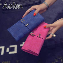 Aolen wallet designer cute genuine leather women wallets lady women'ss clutch bags and purses purse luxury brand woman bag