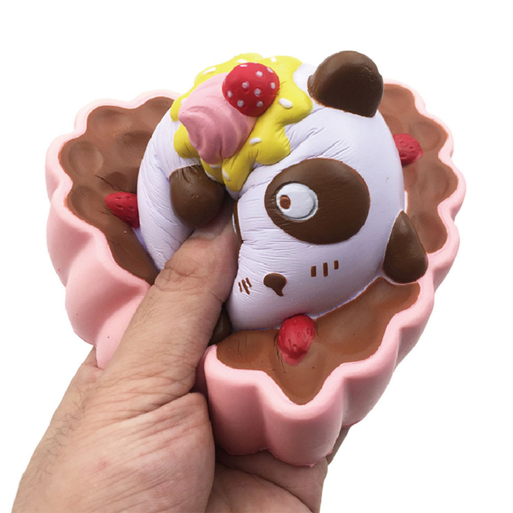 Welding Helmets Jumbo Cute Panda Bear Egg Squishy Slow Rising Squeeze Toys Soft Stretchy Scented Stress Relief Toy Xmas Decor Gifts 13*9.5cm Y* Soft And Light