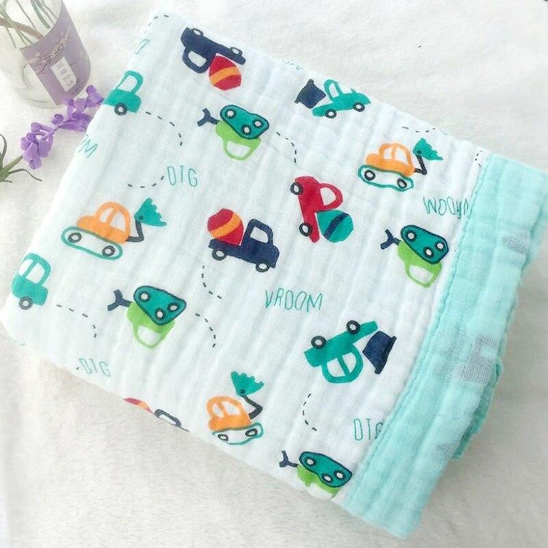 Seis Camada 100% Musselina De Algodão Cobertor Do Bebê Recém-nascido Para Panos Super Confortável Cama Cobertores 115*115 CENTÍMETROS