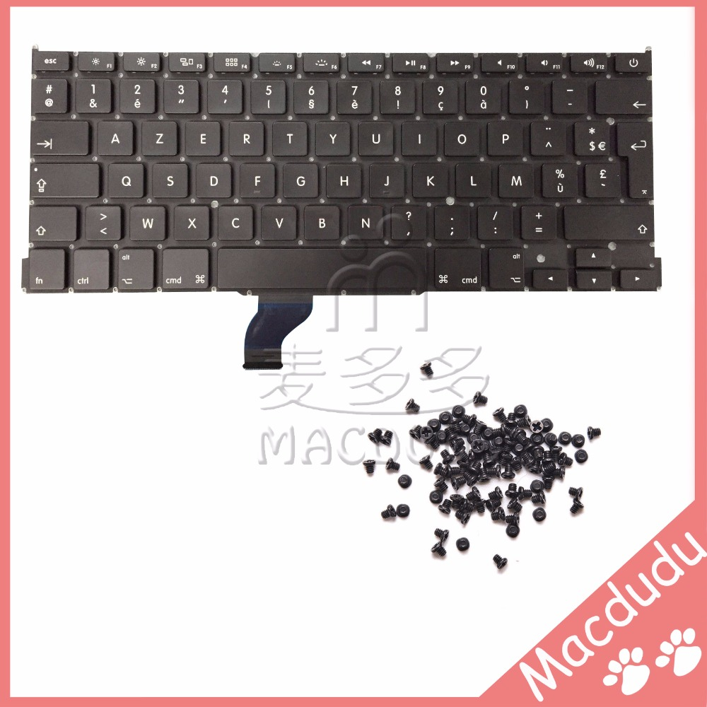 New FR French Keyboard + keyboard screws For MacBook Pro Retina 13 A1502 2013 ME864LL/A ME866LL/A *Verified Supplier* brand new azerty fr french keyboard backlight backlit 100pcs keyboard screws for macbook pro 15 4 a1286 2009 2012 years